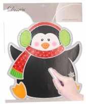 Vergelijk kerst decoratie pinguin krijtbordje 31 x 38 cm prijs
