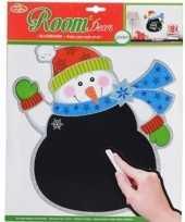 Vergelijk kerst decoratie sneeuwpoppen krijtbordje 31 x 38 cm prijs