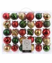 Vergelijk kerst kerstballen mix 60 delig dennen groen rood goud prijs