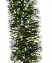 Vergelijk kerst lametta guirlande groen besneeuwd 7 x 270 cm kerstboom versiering decoratie prijs