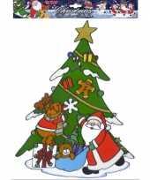 Vergelijk kerst raamsticker kerstman en rendier prijs