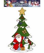 Vergelijk kerst raamsticker kerstman en sneeuwpop prijs