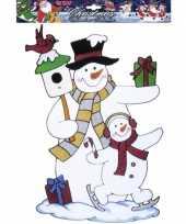 Vergelijk kerst raamsticker sneeuwpop prijs