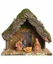 Vergelijk kerststal met 5 kerstbeeldjes 23 cm prijs