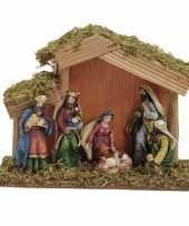 Vergelijk kerststal met 6 figuren 15x20 cm prijs