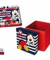 Vergelijk kinderkamer opbergbox opbergdoos mickey mouse thema poef zitje prijs