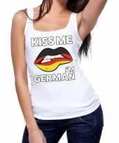 Vergelijk kiss me i am german wit fun t tanktop voor dames prijs