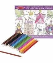 Vergelijk kleurboek set met kleurpotloden met prinsessen prijs