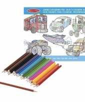 Vergelijk kleurboek set met kleurpotloden superdik prijs