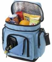 Vergelijk koelbox koeltas lichtblauw voor blikjes lunch prijs