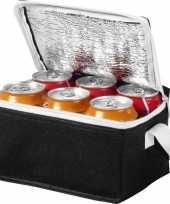 Vergelijk koelbox koeltas zwart wit voor 6 sixpack blikjes prijs