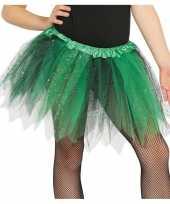 Vergelijk korte heksen verkleed tule onderrok groen zwart 31 cm voor meisjes prijs