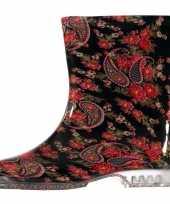 Vergelijk korte regenlaarzen met paisley voor dames prijs