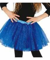 Vergelijk korte tule onderrok kobalt blauw 31 cm voor meisjes prijs