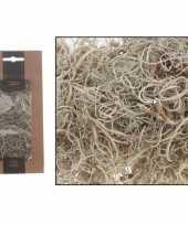 Vergelijk krullend mos wit grijs 50 gram prijs