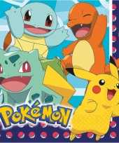 Vergelijk lunchservetten pokemon 48 stuks tafeldecoratie prijs