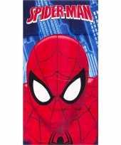 Vergelijk marvel badlaken spiderman gezicht blauw 70 x 140 cm prijs