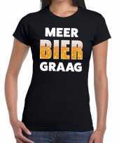 Vergelijk meer bier graag fun t-shirt zwart voor dames prijs