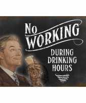 Vergelijk metalen wand bordje drinking hours prijs