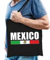 Vergelijk mexico supporter schoudertas zwart katoen prijs