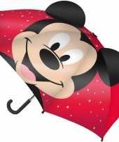 Vergelijk mickey mouse oren kinderparaplu rood voor jongens prijs