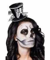 Vergelijk mini skelet hoedje op haarband prijs