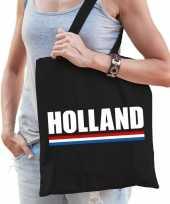 Vergelijk nederland supporter schoudertas holland zwart katoen prijs