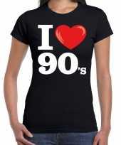Vergelijk nineties shirt met i love 90s bedrukking zwart voor dames prijs