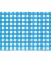 Vergelijk onderlegger placemats blauw witte ruitjes 43 x 30 cm prijs