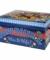 Vergelijk opbergbox opbergdoos paw patrol blauw 49 cm prijs