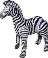 Vergelijk opblaas zebra dieren 140 cm realistische print prijs