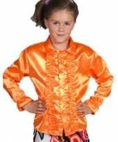 Vergelijk oranje blouse met rouches kids prijs