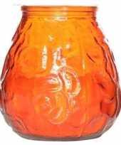 Vergelijk oranje lowboy tafelkaarsje 40 branduren prijs