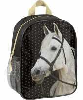 Vergelijk paarden school rugzak zwart voor meisjes 28 x 22 x 10 cm prijs