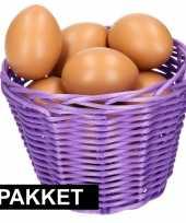 Vergelijk paars paaseieren mandje met bruine eieren prijs