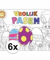 Vergelijk paasversiering inkleurbare placemats van papier 6 stuks prijs