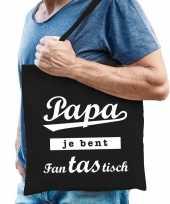 Vergelijk papa fantastisch cadeau tas zwart katoen prijs