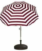 Vergelijk parasolstandaard en rood witte gestreepte parasol prijs