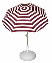 Vergelijk parasolstandaard wit en rood witte gestreepte parasol prijs
