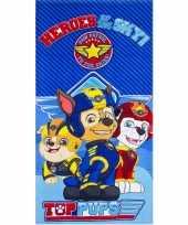 Vergelijk paw patrol heroes badlaken blauw 70 x 140 cm prijs
