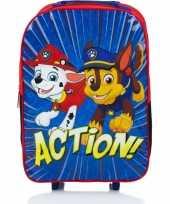 Vergelijk paw patrol koffer op wieltjes blauw 42 cm voor kinderen prijs