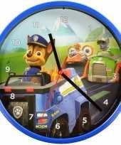 Vergelijk paw patrol wandklok blauw 22 5 cm prijs