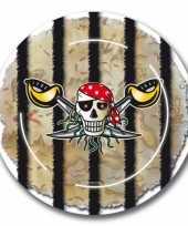 Vergelijk piraten feest bordjes 16x prijs