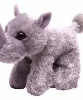 Vergelijk pluche knuffel knuffeldier neushoorn grijs 18 cm prijs