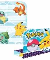 Vergelijk pokemon verjaardags uitnodigingen 16 stuks prijs