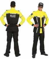Vergelijk politie kostuum zwart met felgeel prijs
