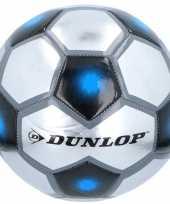 Vergelijk professionele voetbal grijs zilver blauw 23 cm prijs