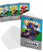 Vergelijk race formule 1 thema uitnodiging 16 stuks prijs