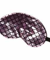 Vergelijk reis slaapmasker oogmasker zeemeermin schubben roze zwart voor volwassenen prijs