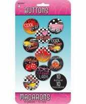 Vergelijk rock and roll thema buttons 10 stuks prijs